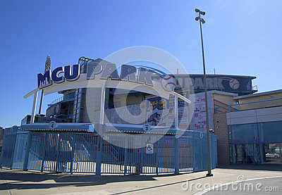 MCU ballpark a minor league baseball stadium in the Coney Island section of Brooklyn Editorial Photography