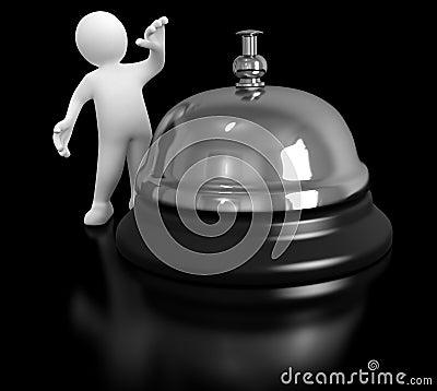 Mężczyzna i usługa dzwon