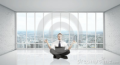 Mężczyzna medytacja