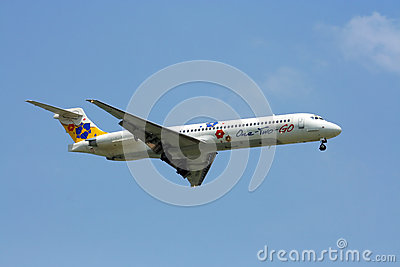MD-80 12GO airline Editorial Stock Image