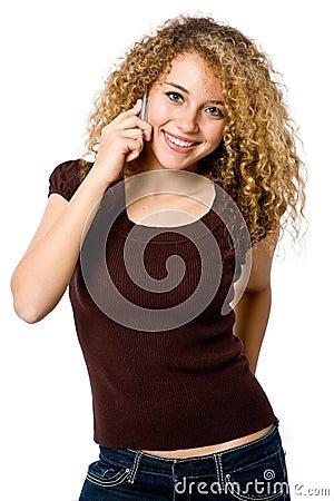 Mädchen am Telefon