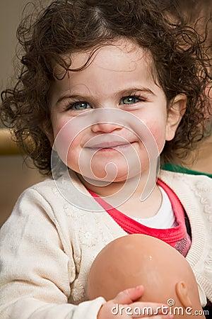 Mädchenlächeln