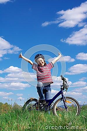 Mädchenradfahren