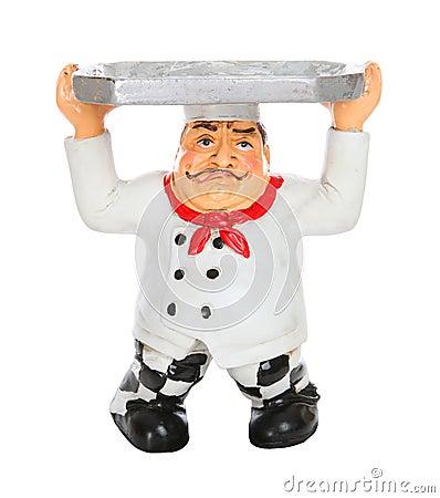 Müder Chef mit Umhüllung-Tellersegment