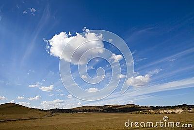 Meadow meets sky