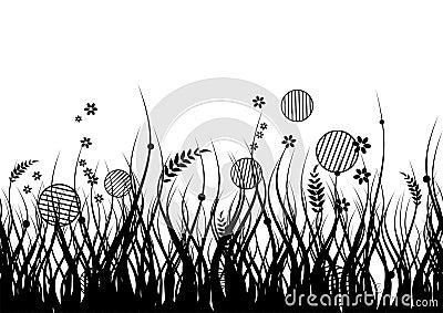 Meadow silhouette seamless