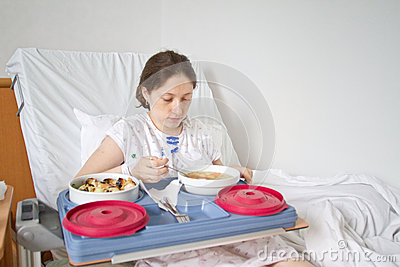 Meal in hospital room