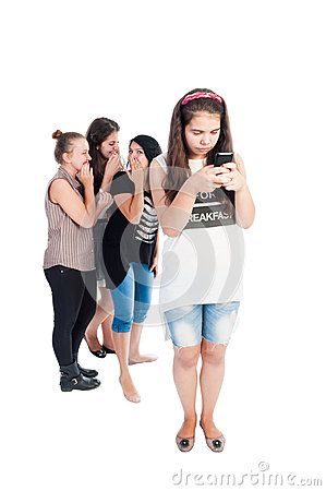 Free Mean And Bullying Girls Full Body Stock Photography - 48583512