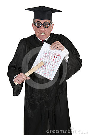 Free Mean Angry College Professor Teacher Funny Humor Royalty Free Stock Image - 24346656