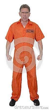 Mean Angry Jailbird Crook Burglar Isolated