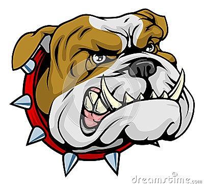 Free Mean Bulldog Mascot Illustration Stock Images - 20830034