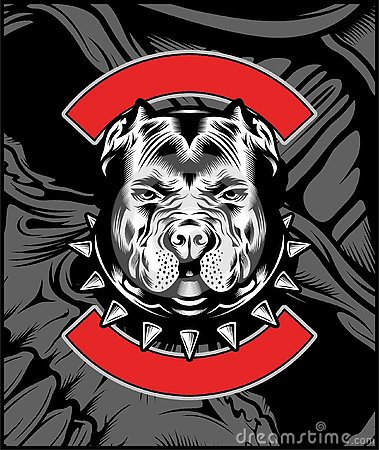 Free Mean Bulldog Mascot Illustration Vector Stock Image - 144454351