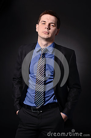 Mean businessman