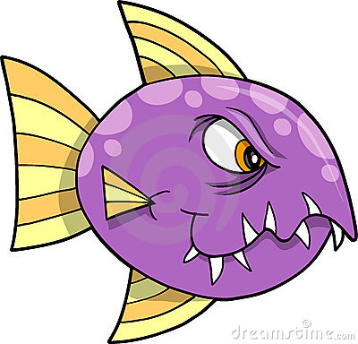 Mean fish Vector Illustration