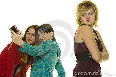 Mean Girls Take photos with cellphone