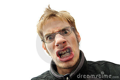 Mean man with braces