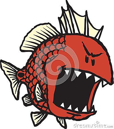 Mean fish clipart