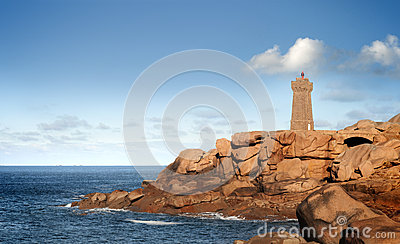 Mean ruz lighthouse in northern brittany