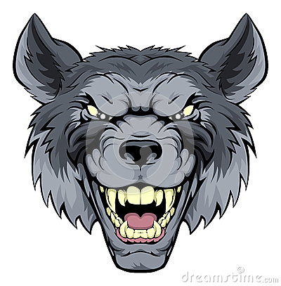 mean wolf mascot stock vector image 43861863