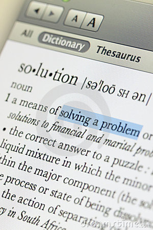 Meaning of solution