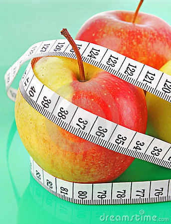 Measure around apple
