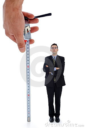 Free Measuring A Men Royalty Free Stock Photography - 3070517