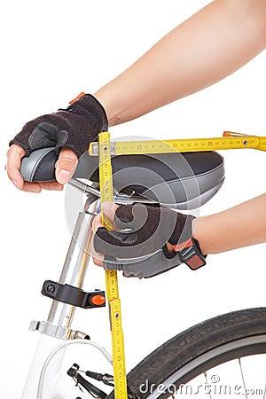 Free Measuring Bike Saddle Royalty Free Stock Image - 27761006