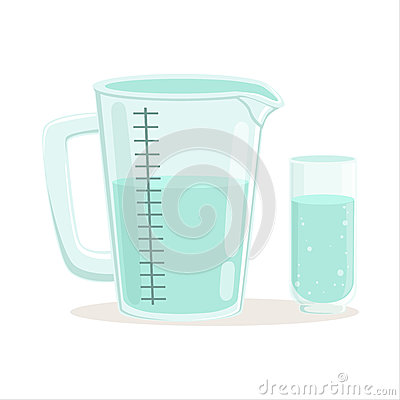 Free Measuring Cup And Glass Kitchenware Vector Illustration Royalty Free Stock Photo - 93491325