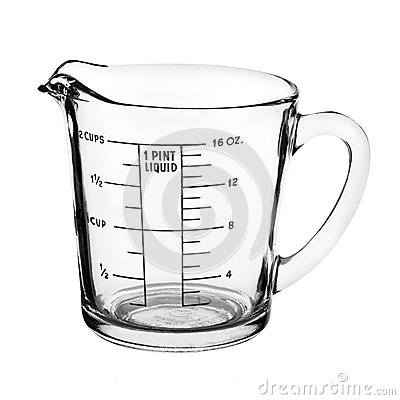 Free Measuring Cup Isolated On White Background Stock Images - 56874434