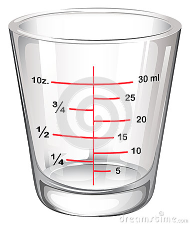 A measuring glass