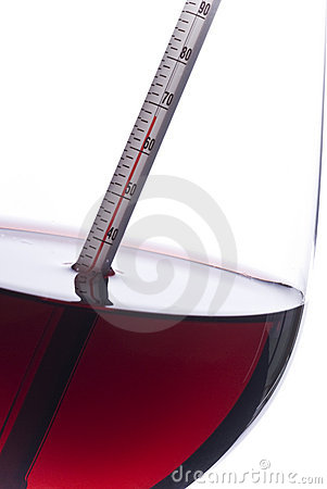 Measuring Red Wine Temperature with a Thermometer