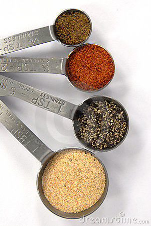 Measuring Spoons full of Spices