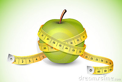 Measuring Tape around Apple