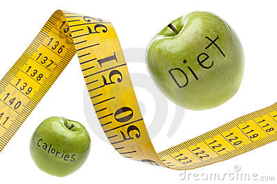Measuring Tape Diet Calories Concept