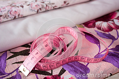 Measuring tape on fabric