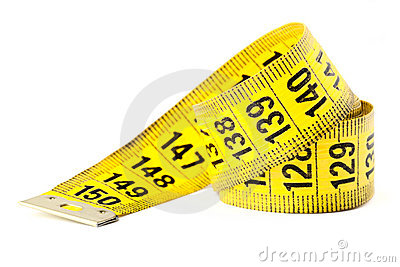 Measuring with tape measure