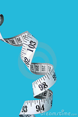 Measuring tape spiral diet concept
