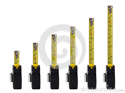 Measuring tapes line