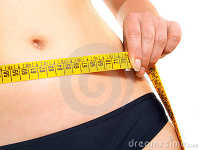 Measuring waist after dieting