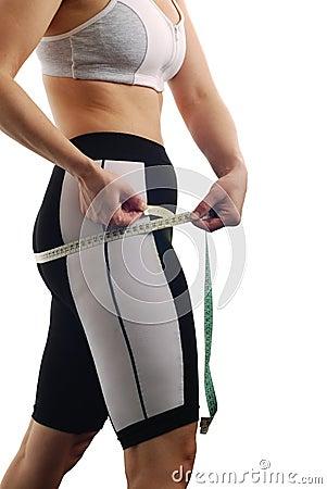 Measuring waist - womans body