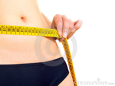 Measuring a woman s abdomen