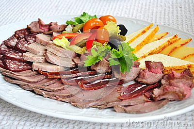 Meat assortment plate