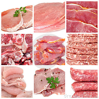 Free Meat Collage Royalty Free Stock Images - 17547199