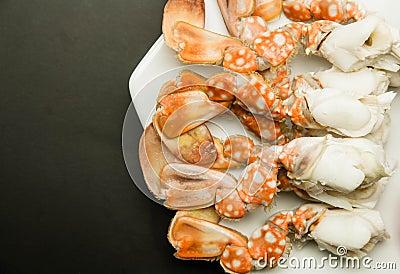 Meat of crabs legs