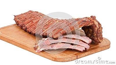 Meat delicatessen on the board