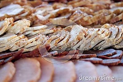Meat delicatessen plate
