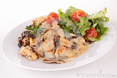 Meat With Mushroom Sauce Stock Image - Image: 25445341