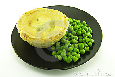 Meat Pie on a Black Plate