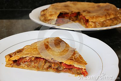 Meat pie traditional home cooking