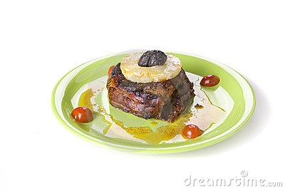 Meat with pineappl